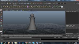 3d model, classic pawn