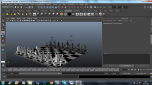 3D Model - robot chess set 1
