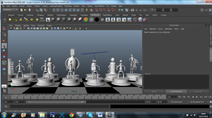 3D Model - Robot chess set 2