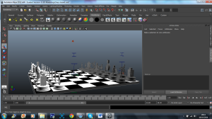 3D Model - robot chess set 3