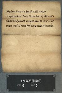 skyrim note:letter